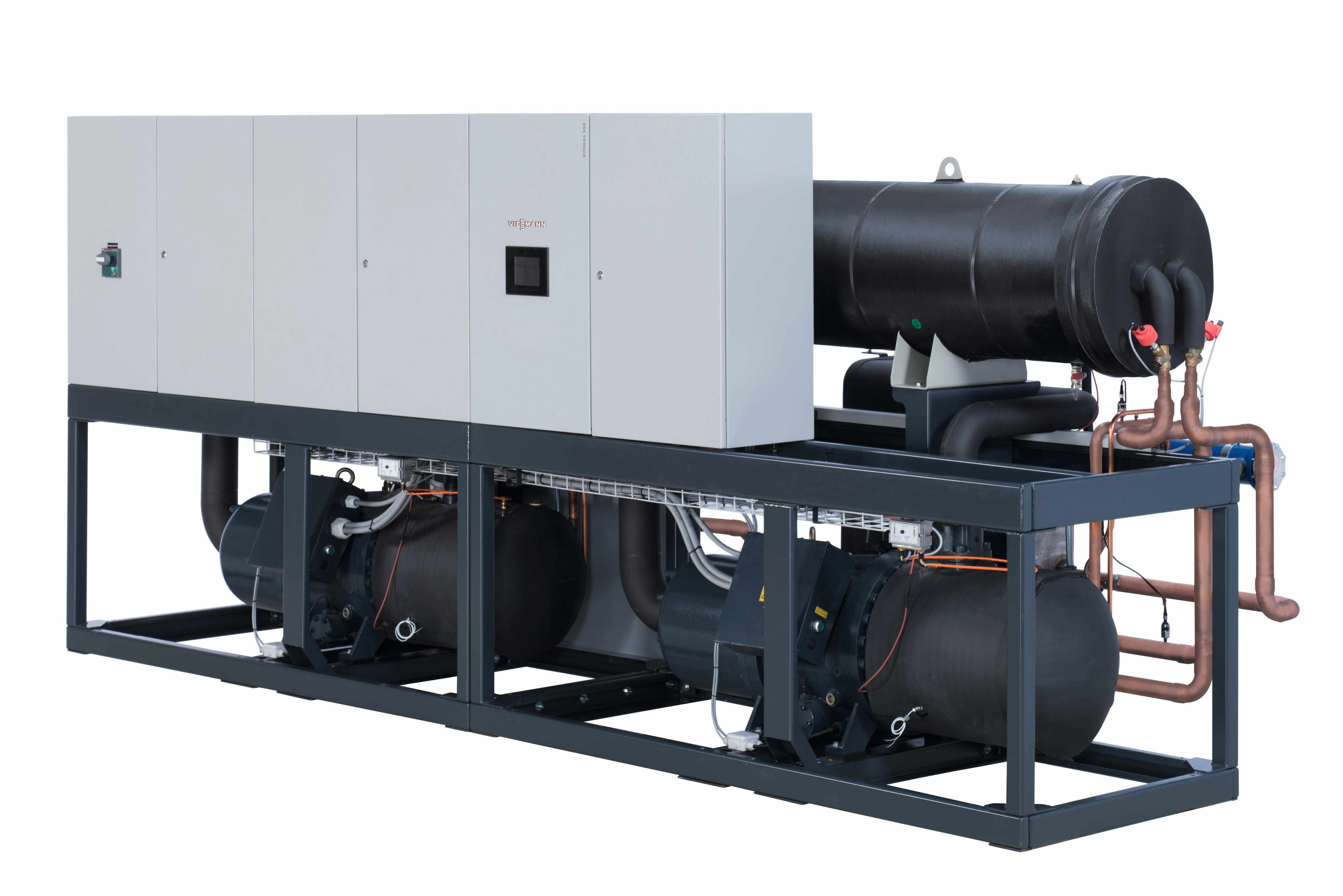 KUMS Konzept Wärme 4.0, Variante zur Nutzung neuer Energiequellen zusammen mit Kraftwärmekopplung. Zentraler Bestandteil: Große Luft-Wärmepumpe
