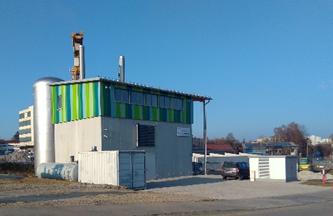 Die KUMS Heizzentrale ist jetzt auch im Außengelände nahezu komplett fertiggestellt.