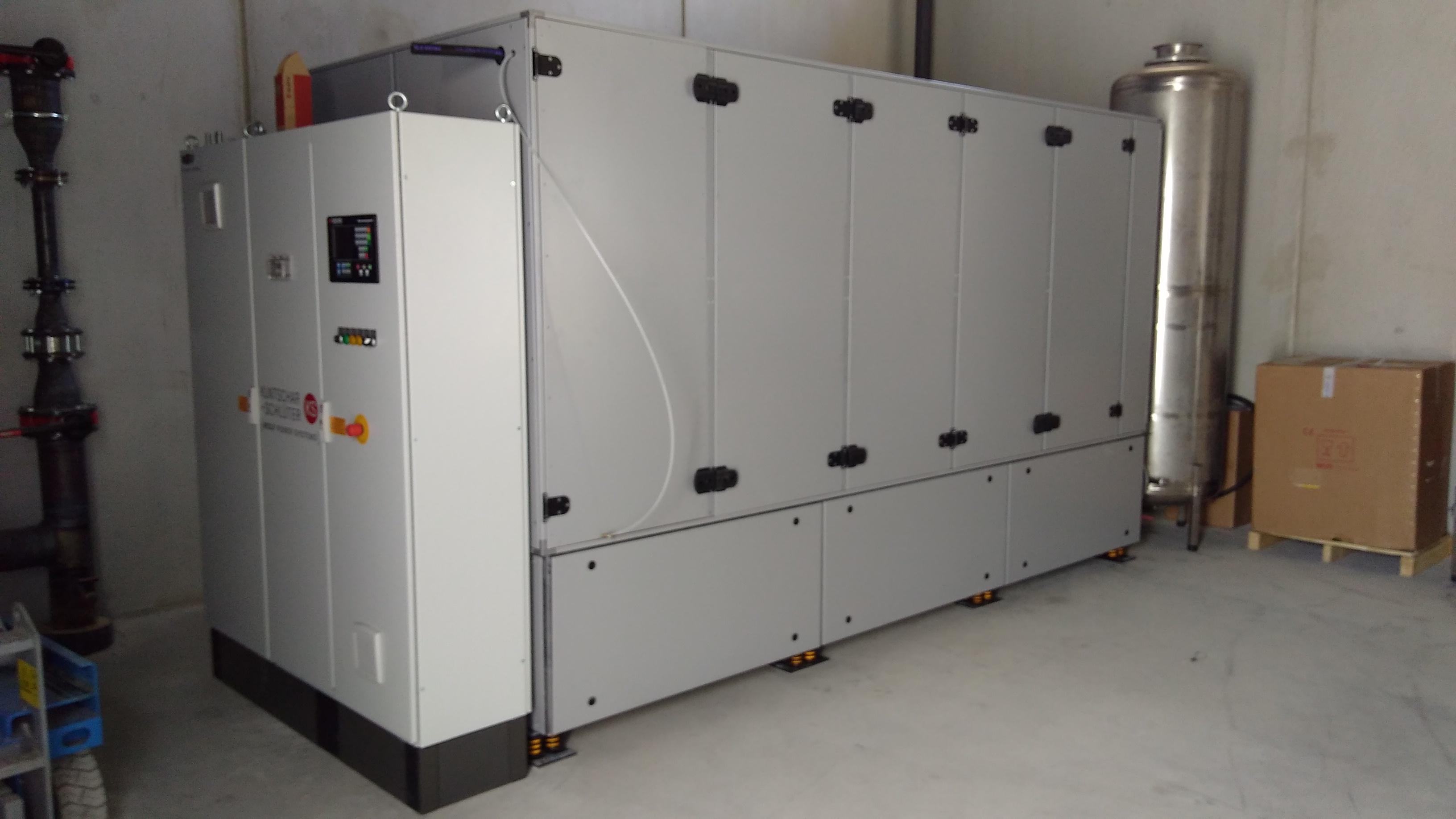 Das neue BHKW wurde in der Heizzentrale Am Erlberg aufgestellt.
